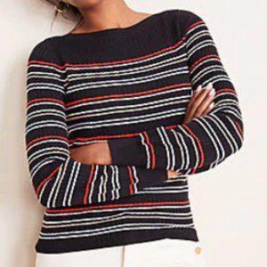NWT Ottoman Stripe Boatneck Sweater